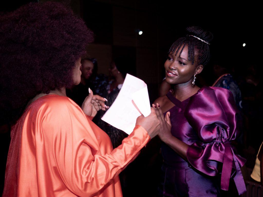 Chimamanda Hosts Lupita at EbonyLife Place